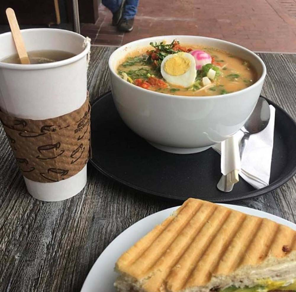 ramen from carmel coffee at carmel plaza