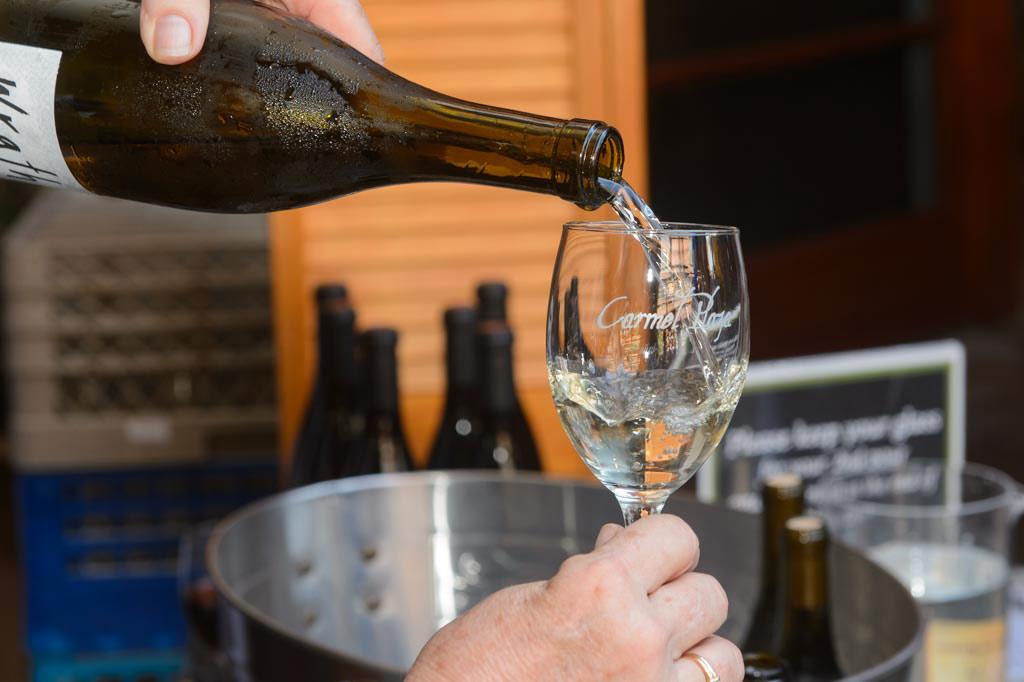 wine pour at carmel plaza