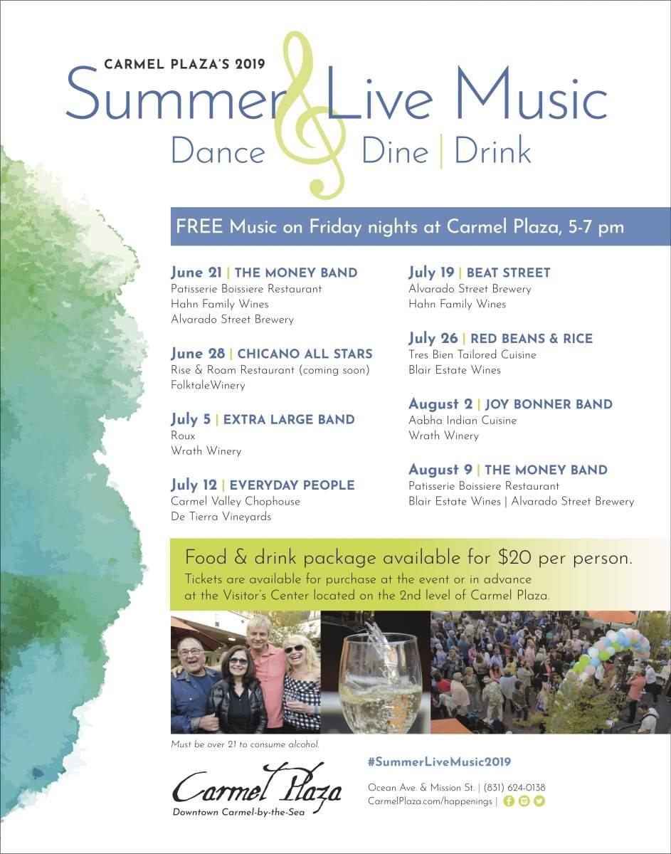 Summer Live Music Series 2019 - Carmel Plaza